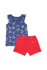 Deux Par Deux Printed Tank Top and Short Set