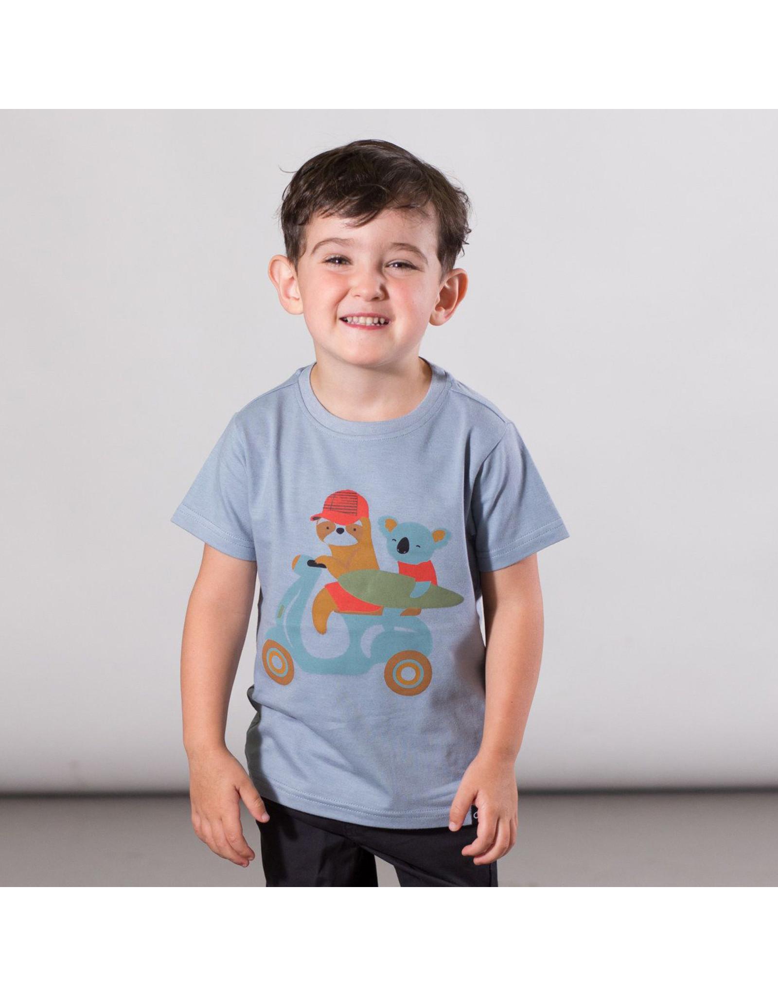 Deux Par Deux Jersey T-Shirt with Print