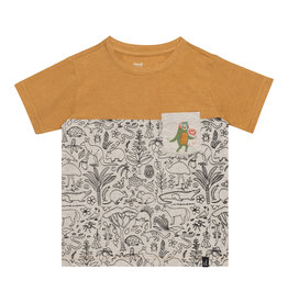 Deux Par Deux Jersey Printed T-Shirt with Pocket
