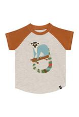 Deux Par Deux Jersey Raglan T-Shirt
