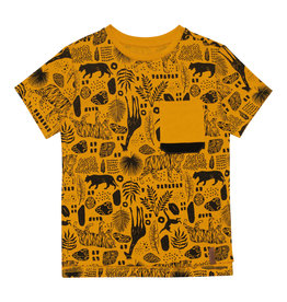 Deux Par Deux Jersey T-Shirt with Pocket and Print - Jungle