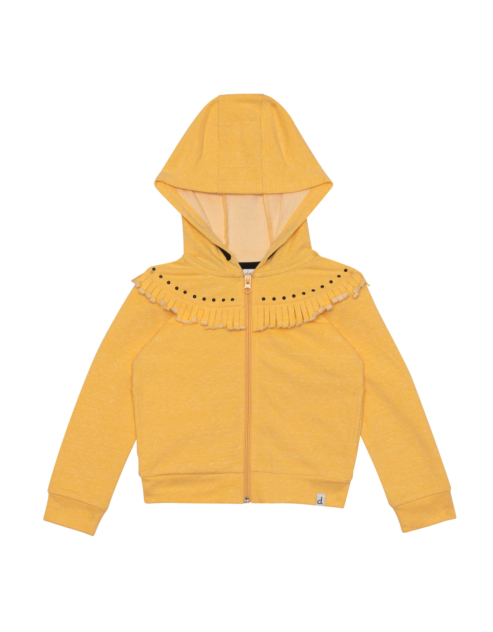 Deux Par Deux Fleece Hooded Sweatshirt with Detail
