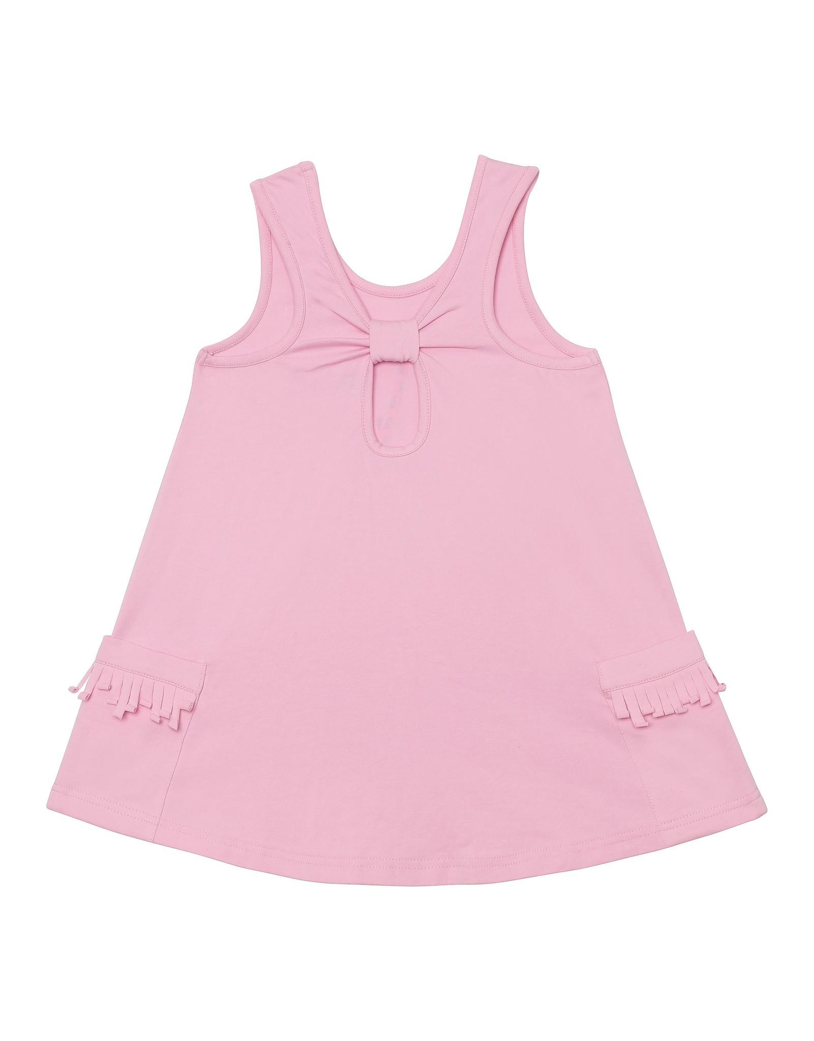 Deux Par Deux Organic Cotton Tunic with Print - Pink