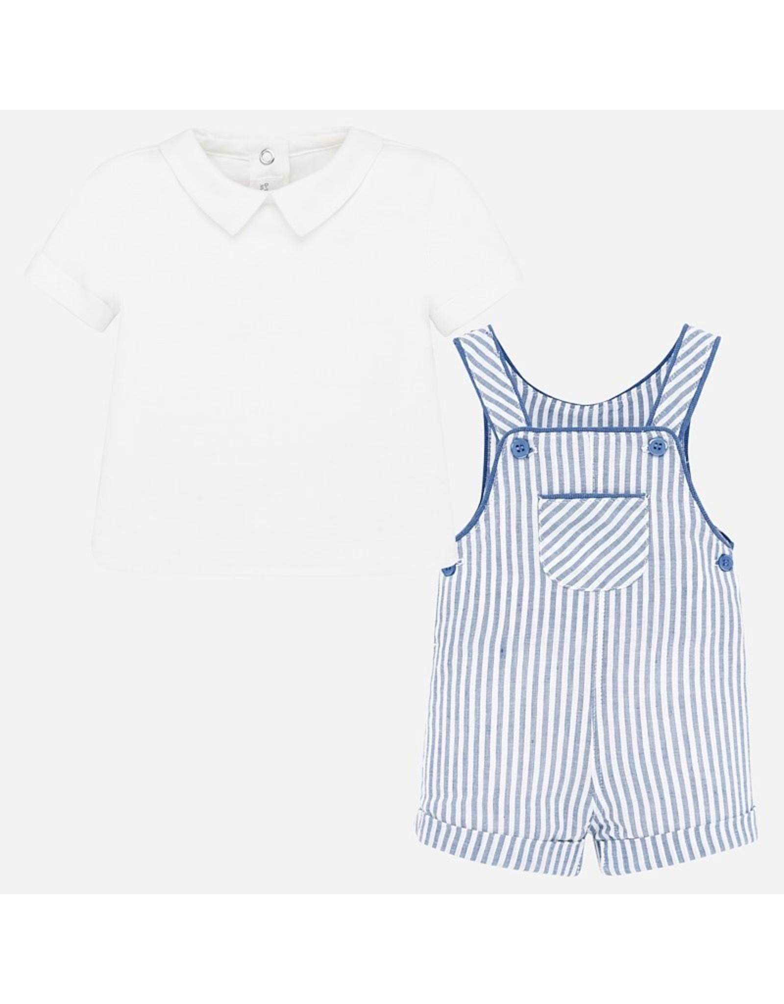 Mayoral Peto and Shirt Set