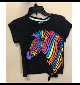 3 Pommes Rainbow Zebra Tie Shirt