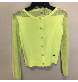 3 Pommes Lime Green Cardigan