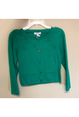 Catamini Green Cardigan with Fruit Accents