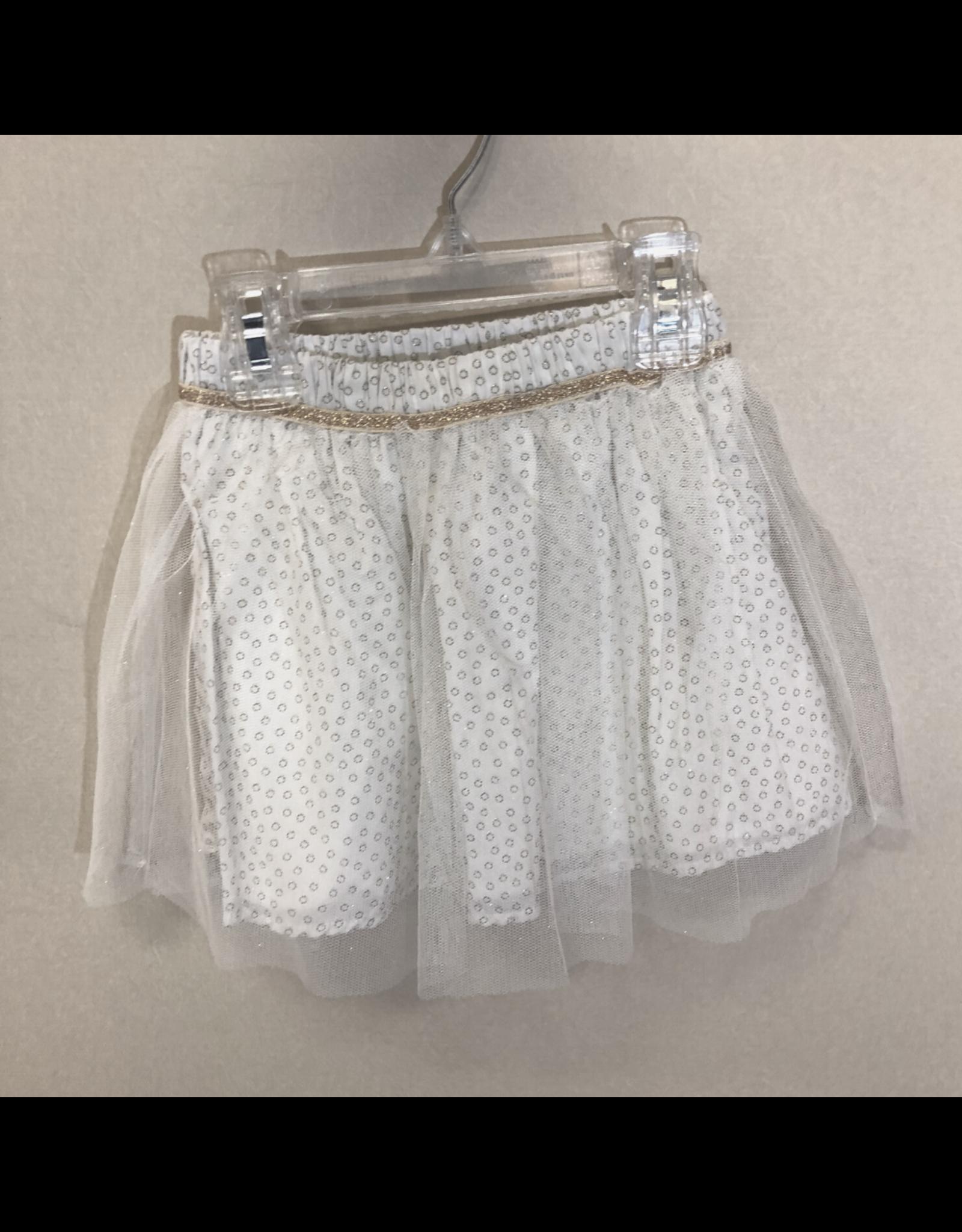 3 Pommes Polka Dot Skirt with Tulle Overlay