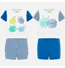 Mayoral Riviera 4 Piece Short Set w/Stripes