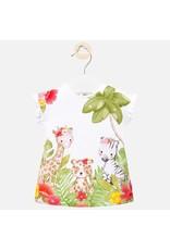 Mayoral White Jungle Print Dress