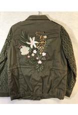 IKKS Khaki Green Army Jacket