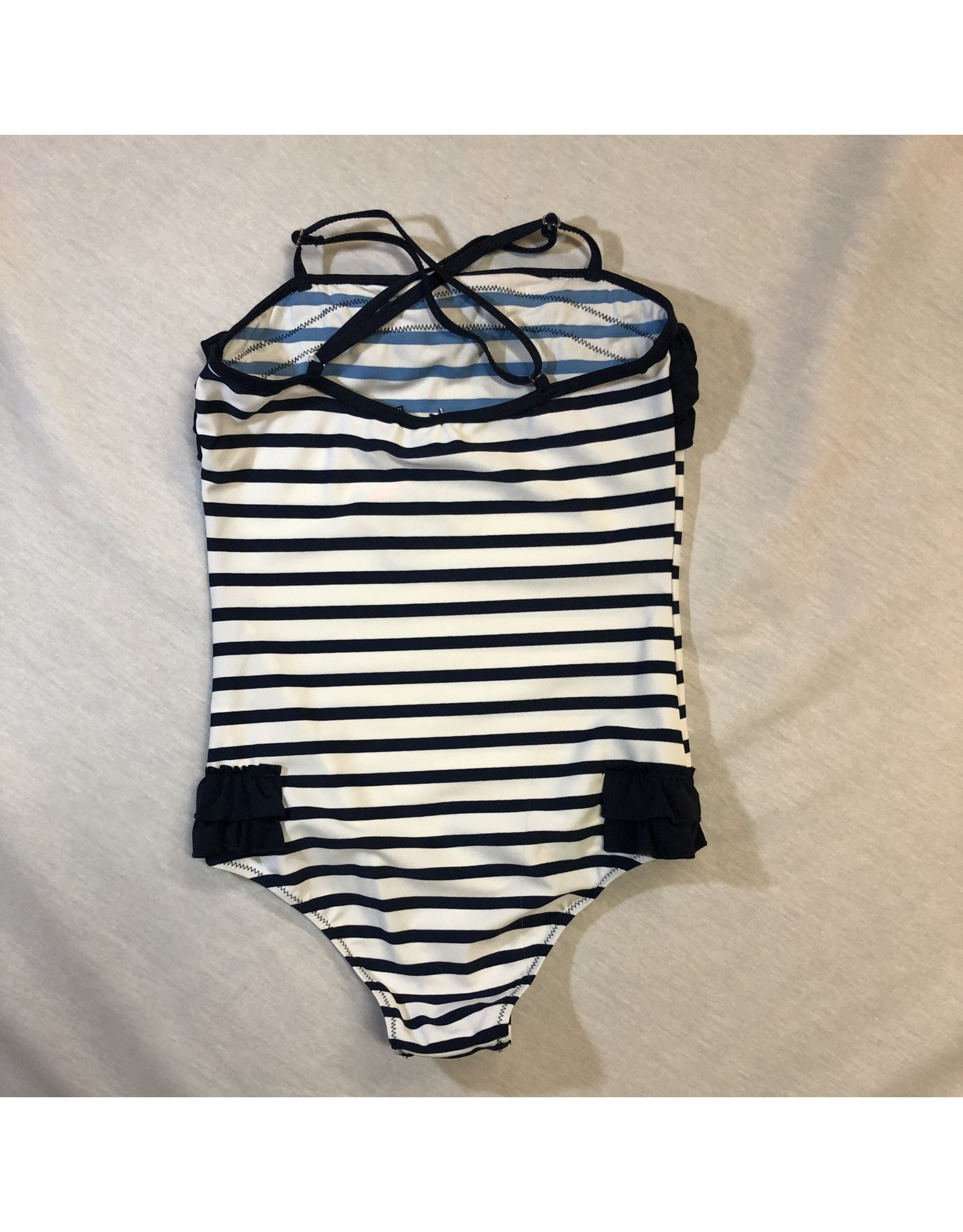3 Pommes Striped One Piece Swimsuit