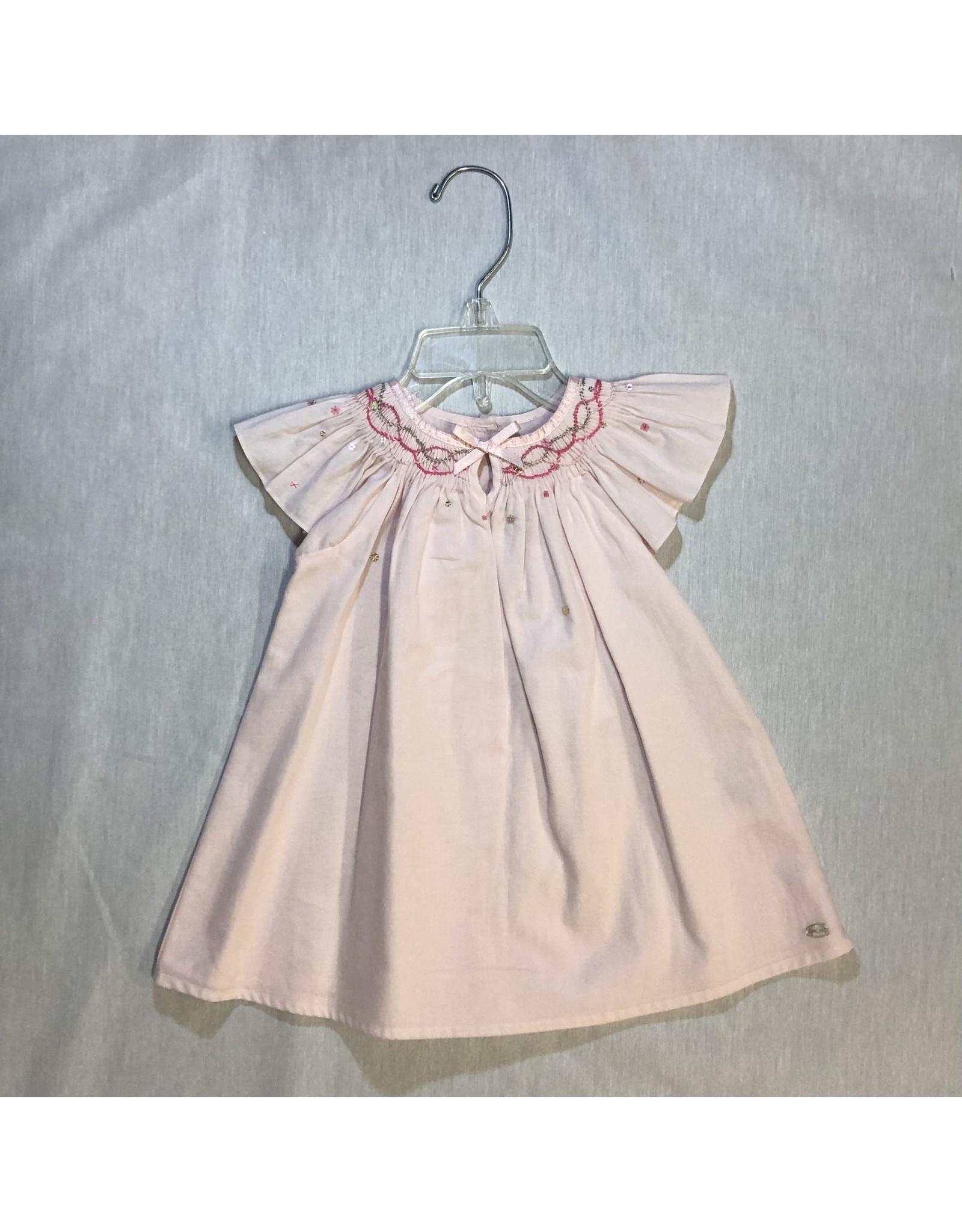 Tartine Et Chocolat Peach Dress with Sequen Detail
