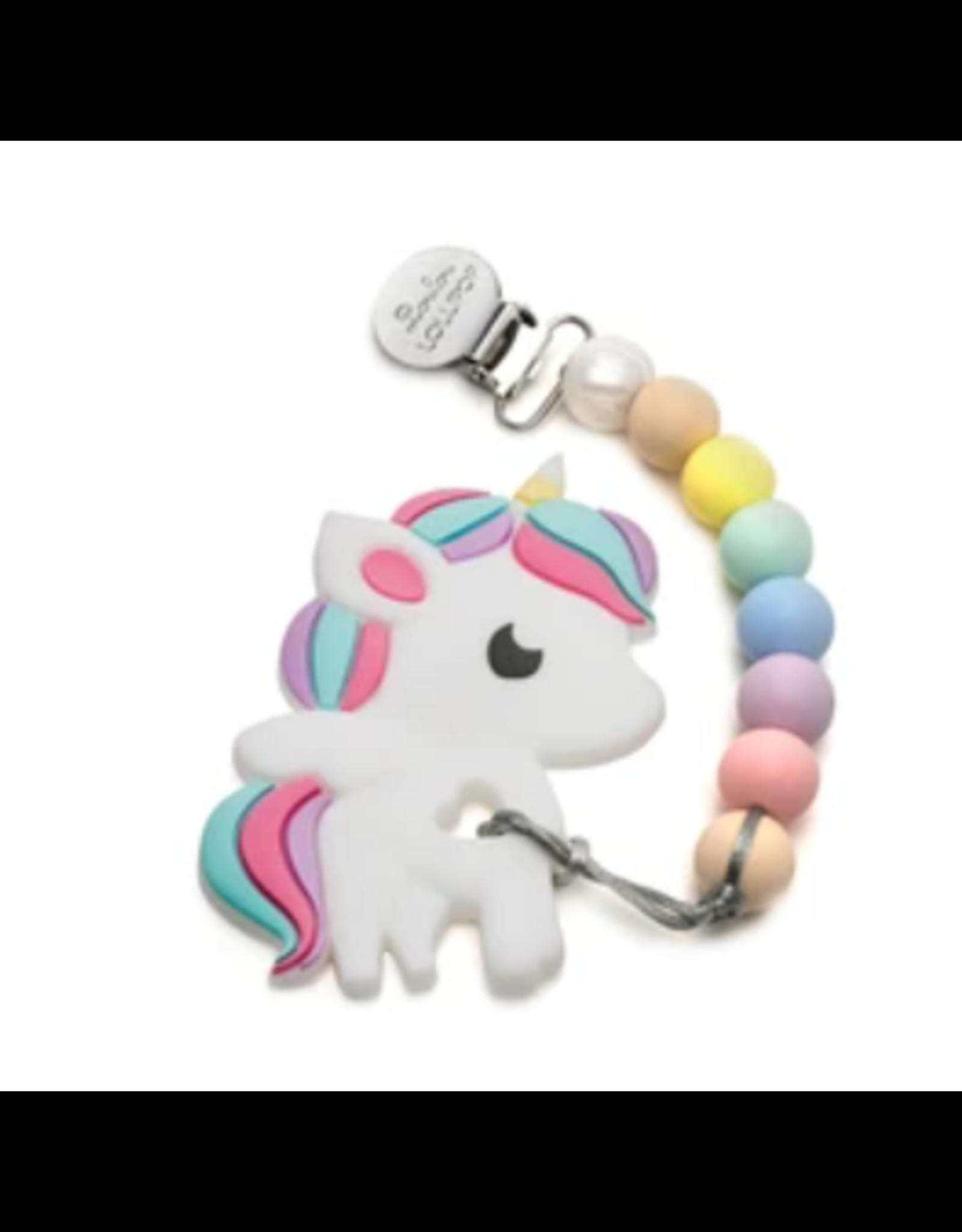 Loulou Lollipop Rainbow Unicorn Teether Set