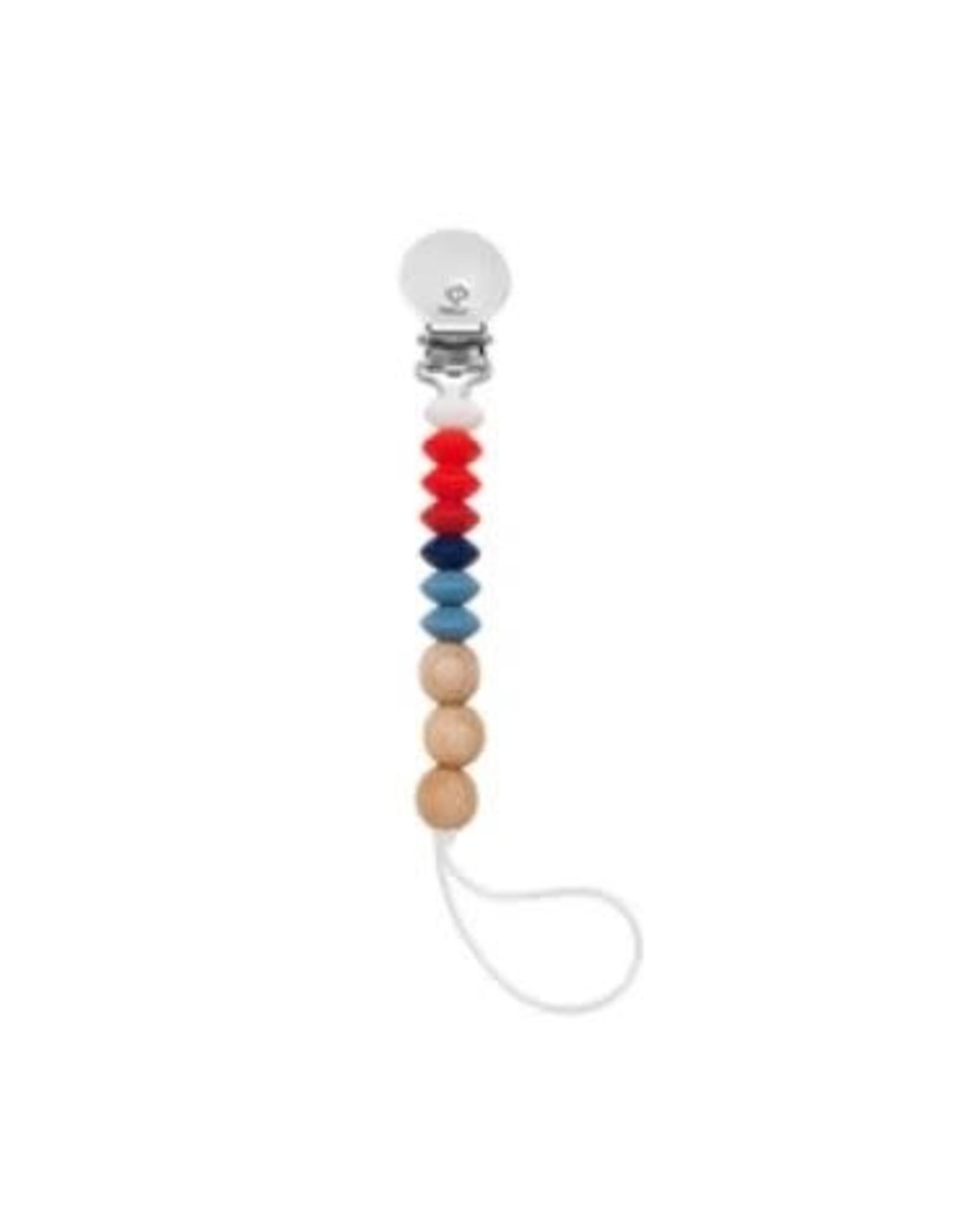 Loulou Lollipop Jubilee Pacifier Clip - Faith