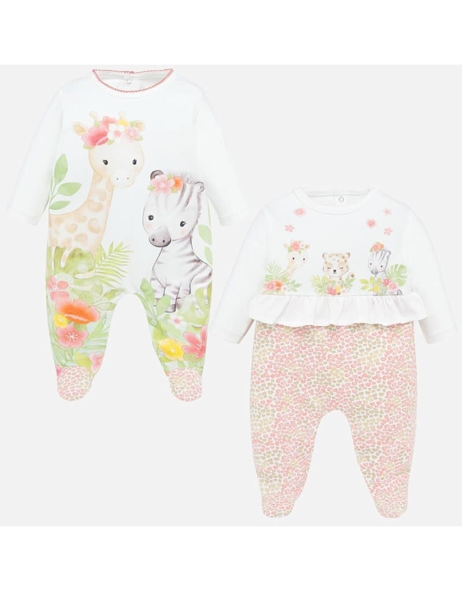 Mayoral Jungle Print Pajamas Set of 2