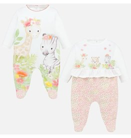 Mayoral Jungle Print Pajamas Set of 2