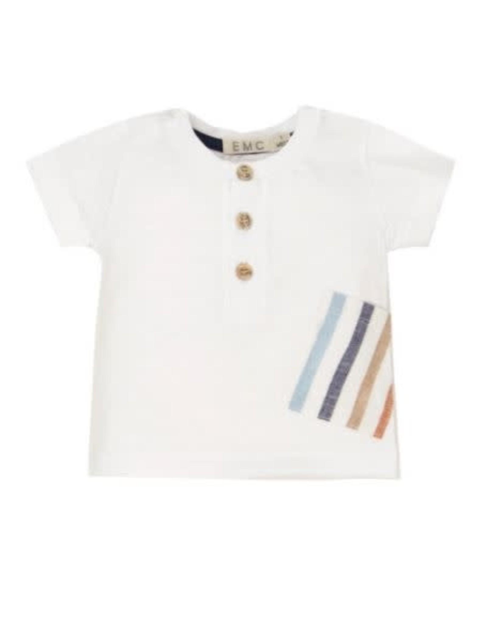 EMC Slub Jersey and Cotton Linen Short Sleeve T-Shirt