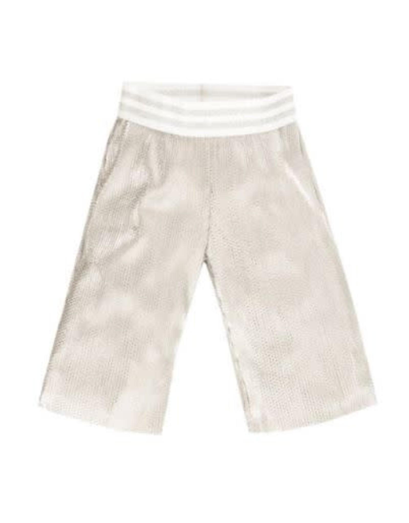 EMC Metallized Plisse Trousers