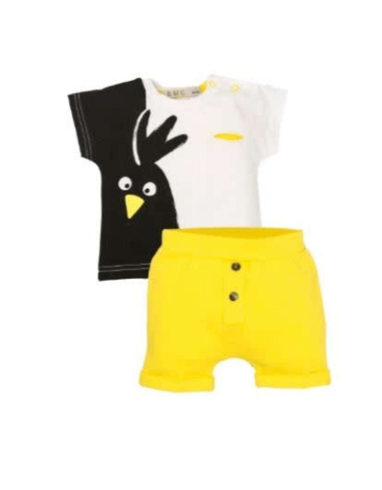 EMC Bird T-Shirt and Yellow Shorts