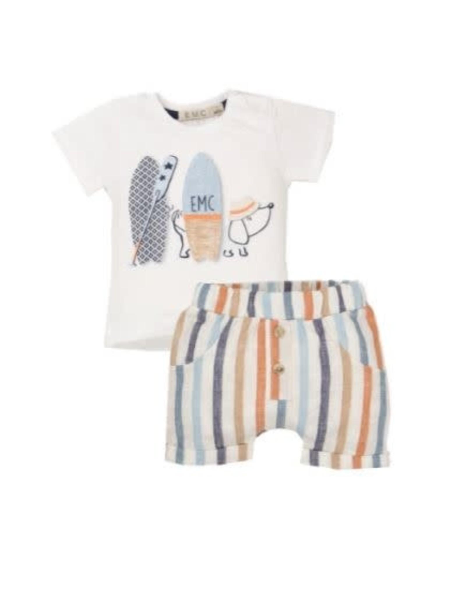 EMC T-Shirt and Striped Short Set