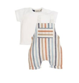 EMC T-Shirt and Striped Overall Set
