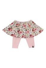 Deux Par Deux Roses Mesh Skirt with Stripe Capris