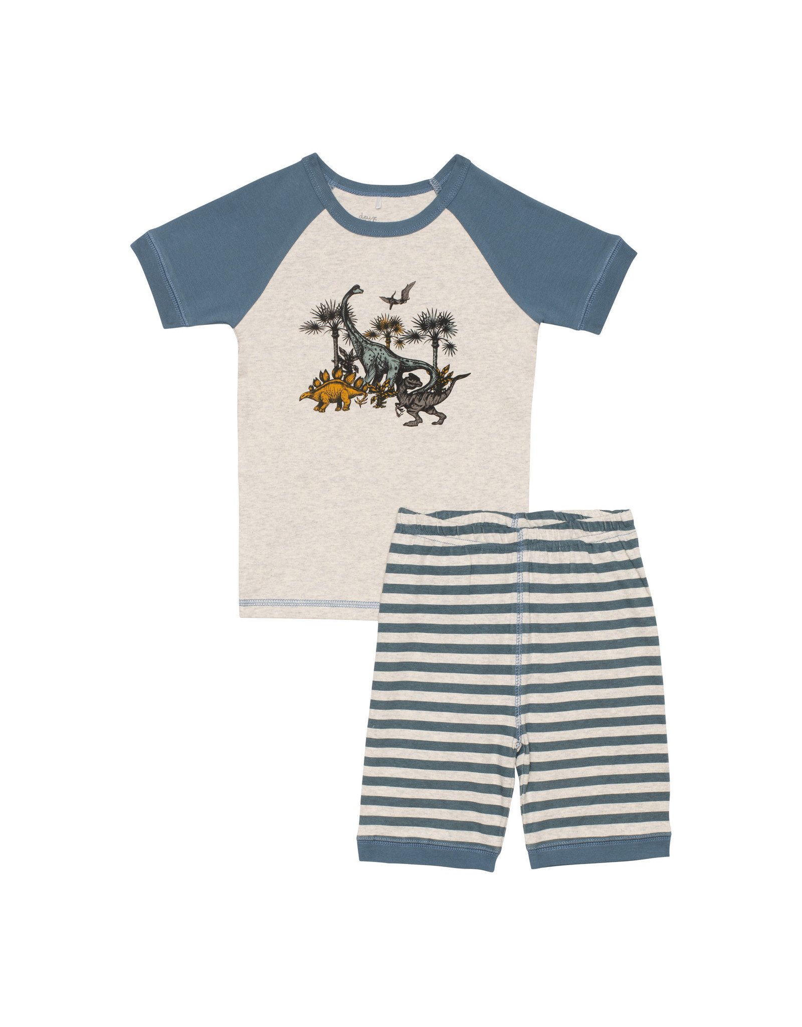 Deux Par Deux Two Pieces Pajama Set - Dinosaur
