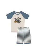Deux Par Deux Two Pieces Pajama Set - Dinosaur