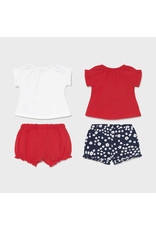 Mayoral 4 Pieces Knit Set - Red