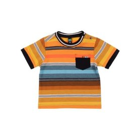 Noruk Orange Stripe T-Shirt