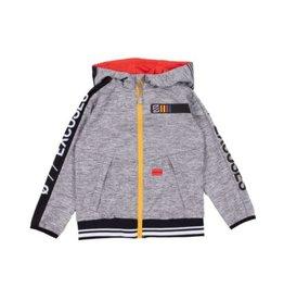Noruk Athletic Zip Hoodie in Grey