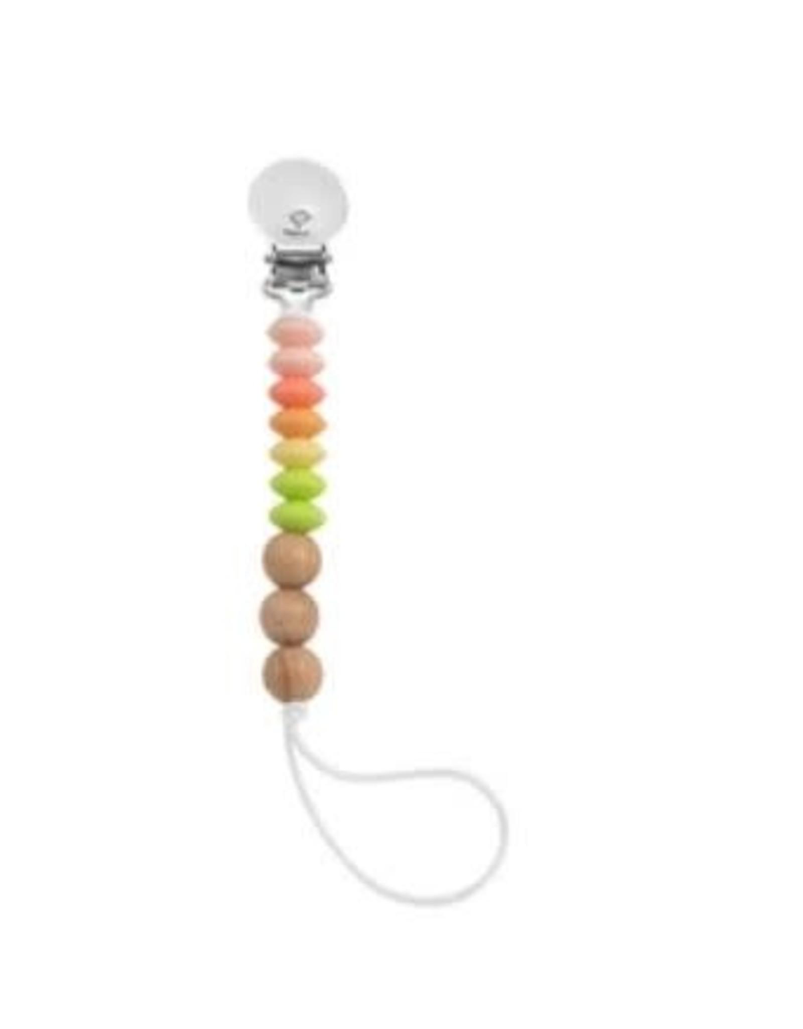 Loulou Lollipop Jubilee Pacifier Clip - Sorbet