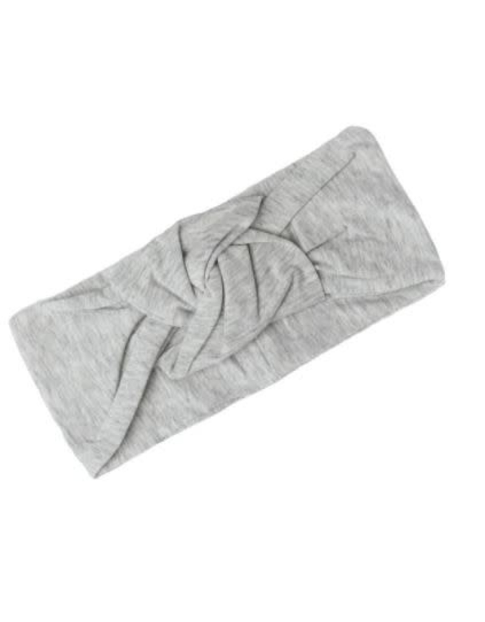 Loulou Lollipop Knotted Headband - Grey