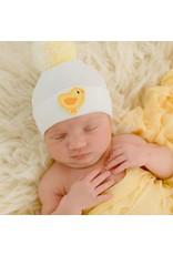 ilybean Nursery Beanie - White with Duck