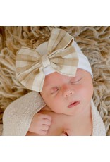 ilybean Nursery Beanie - White with Burlap