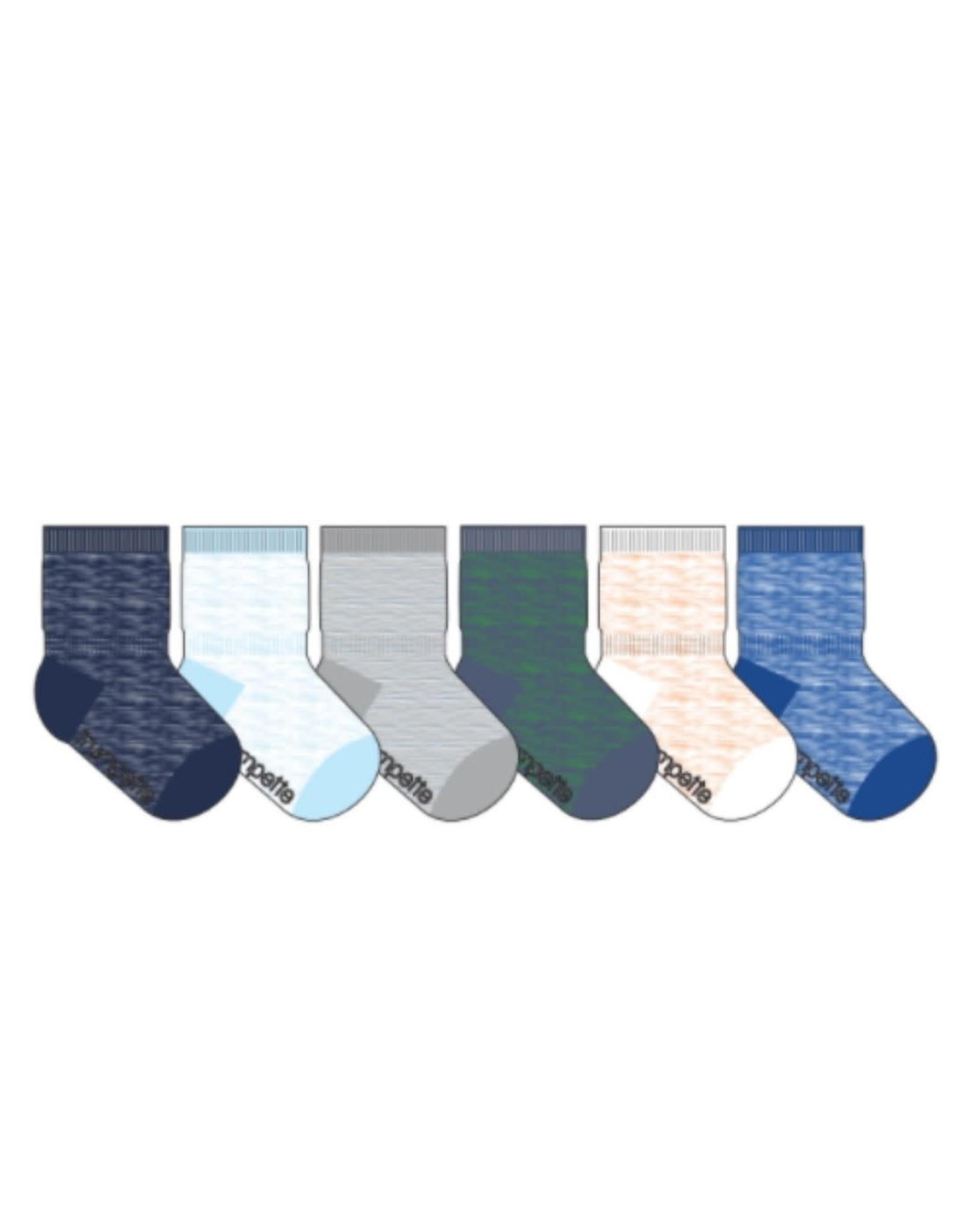 Trumpette Socks set of 6 - Casey Space Blue