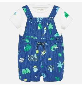Mayoral Blue Peot and Shirt Set