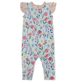 Loulou Lollipop Girl's Romper - Bluebell