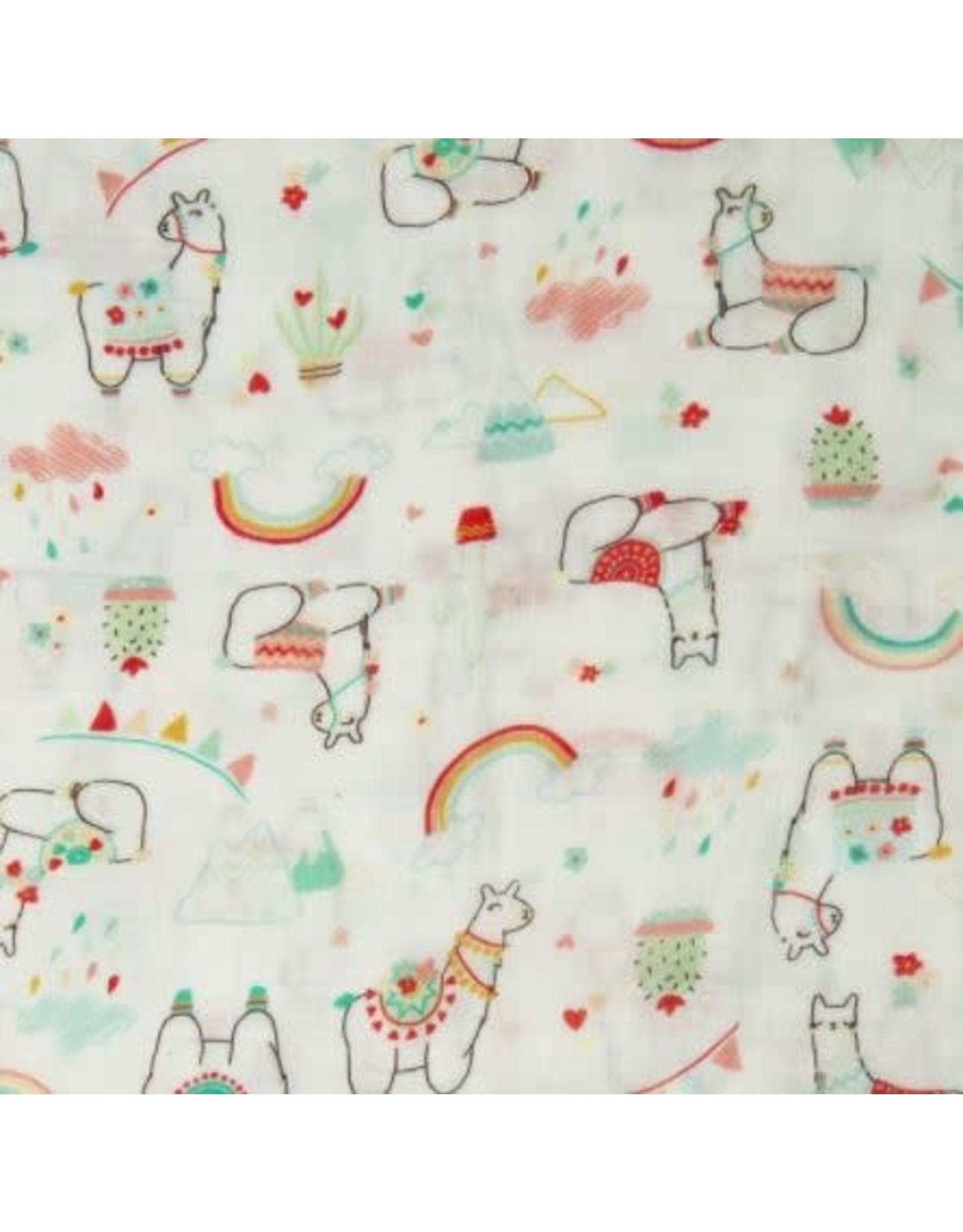 Loulou Lollipop Llama Muslin Swaddle