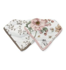 Loulou Lollipop Secret Garden Bandana Bib Set