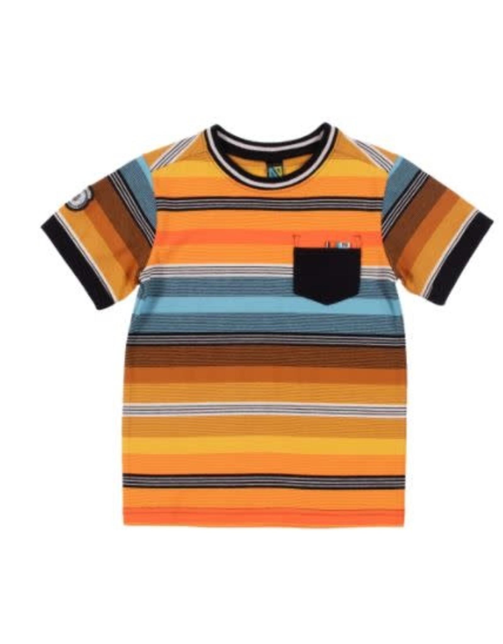 Noruk Orange Stripe T-Shirt