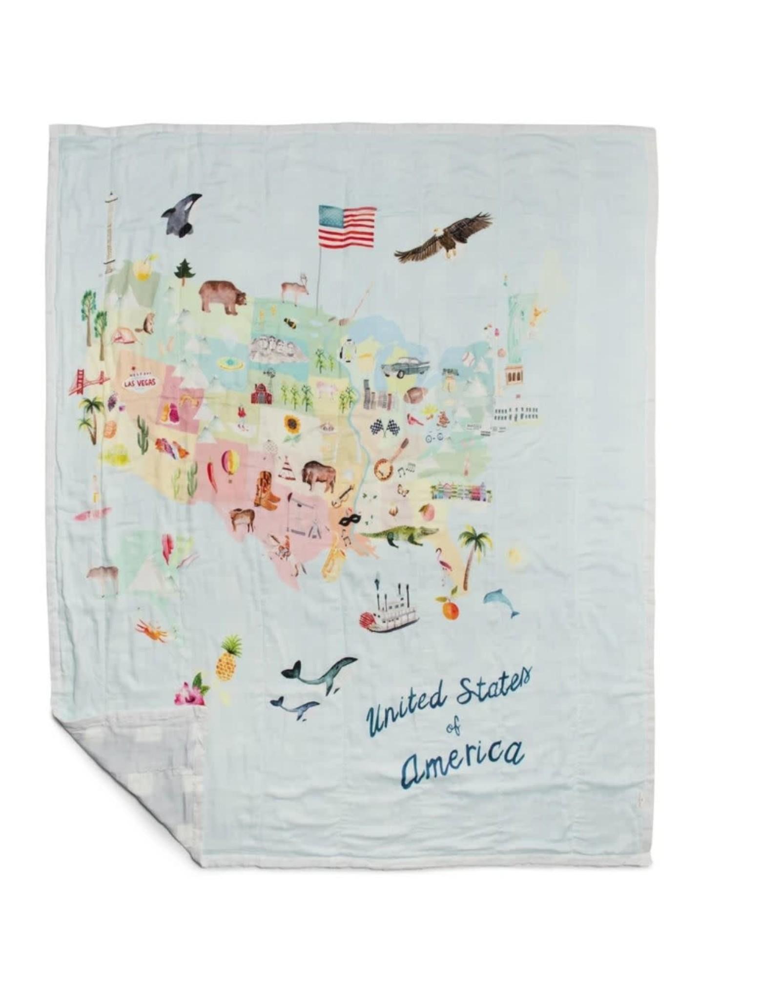 Loulou Lollipop Muslin Quilt Blanket - USA