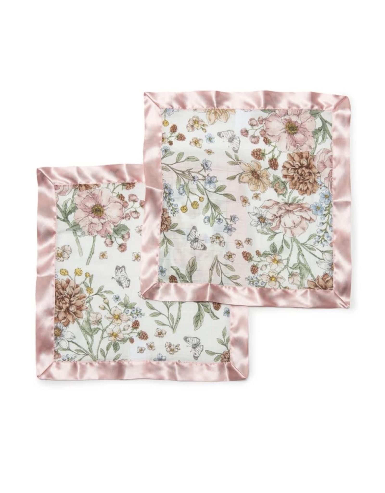 Loulou Lollipop Secret Garden Security Blankets - 2 Pack