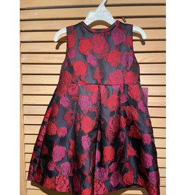 Gabby Black Dress with Roses