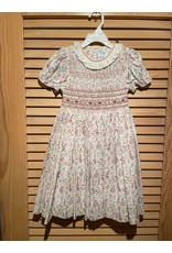 Casero Girls Emroidered Leafy Dress