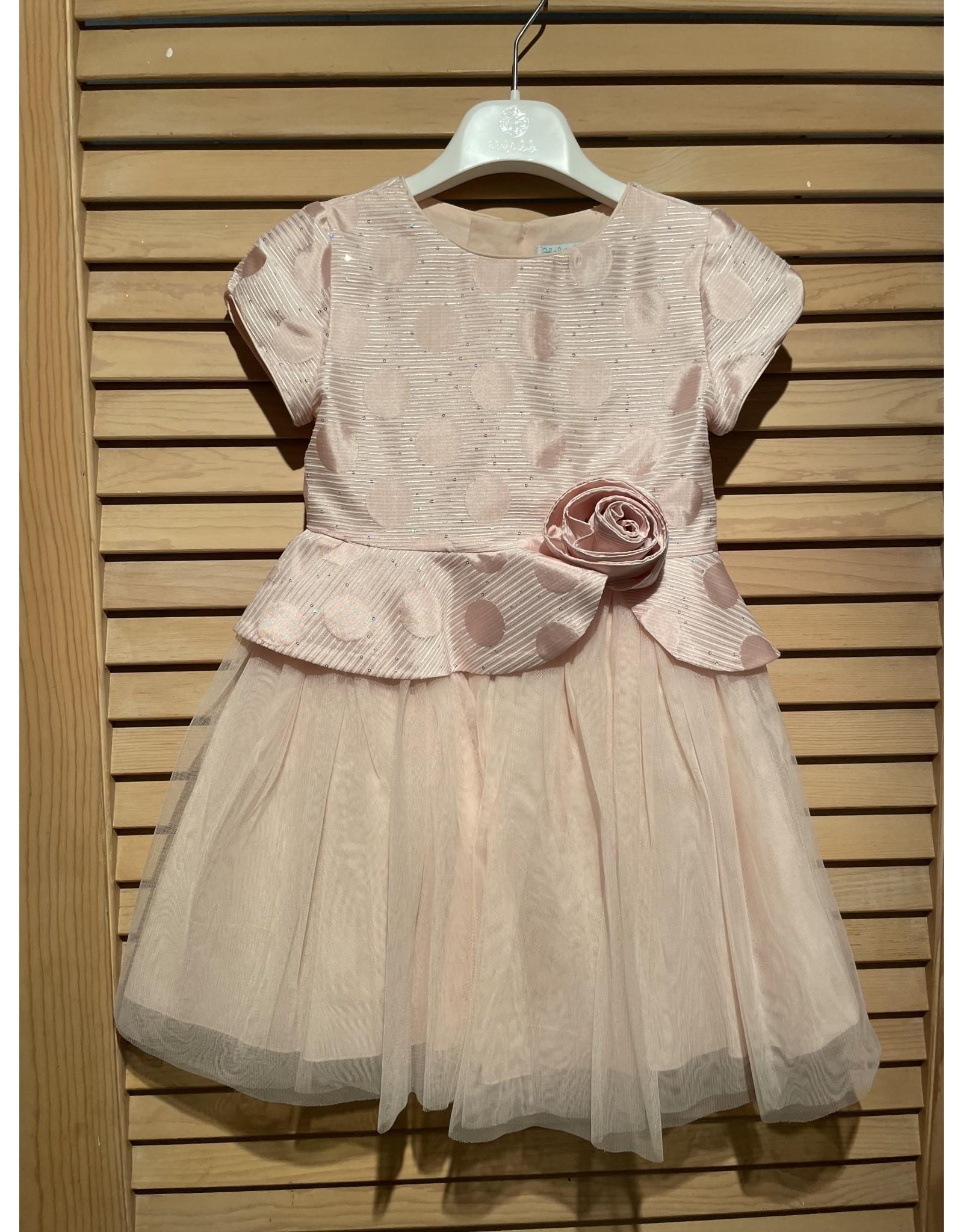 Abel & Lula Rose Polka Dot Dress with Tule Skirt