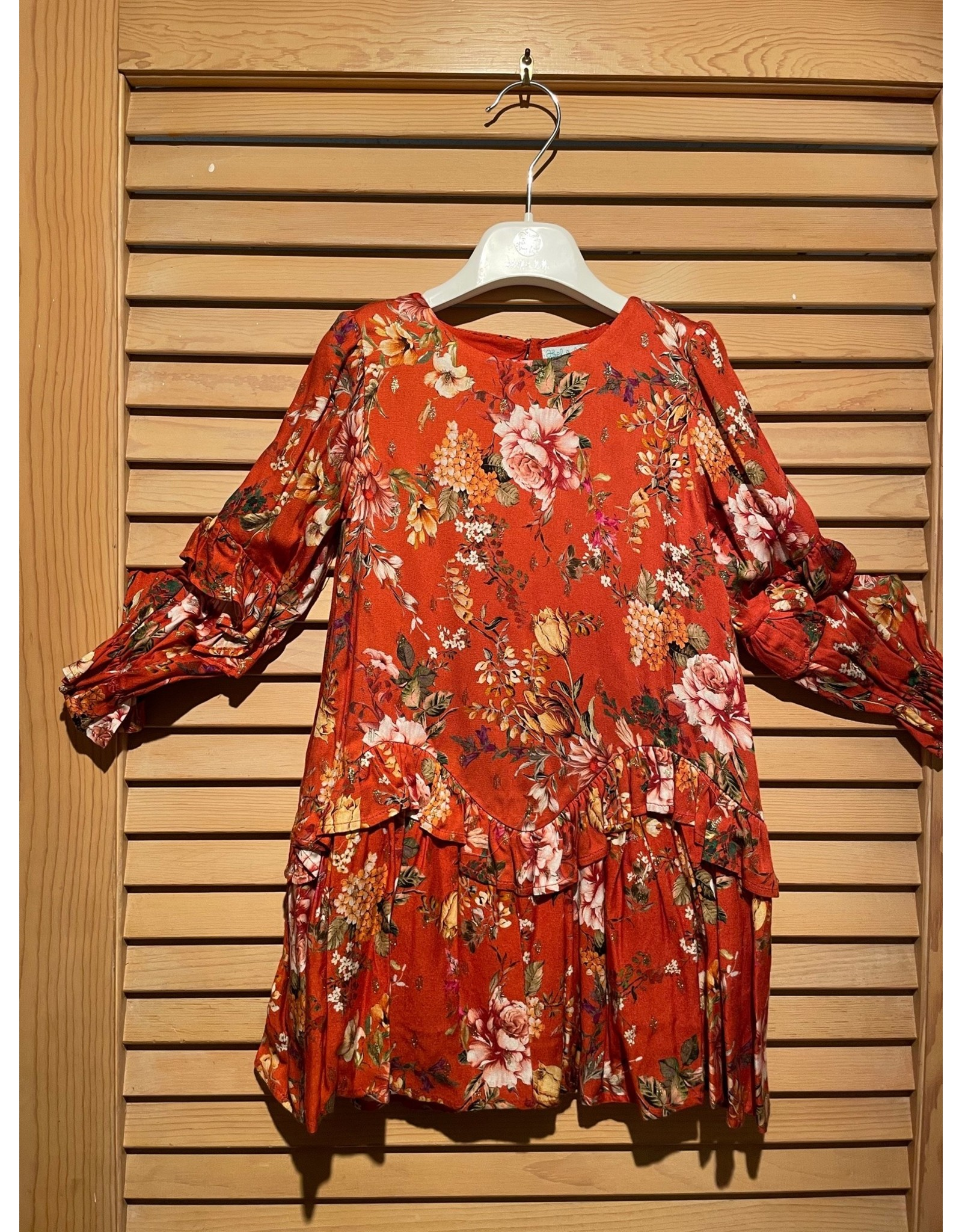 Abel & Lula Caldera Floral Dress with Ruffle Accents