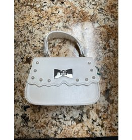 Abel & Lula White Purse with Pearl Detailing