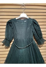 Abel & Lula Botella Green Sequen Tule Dress with Belt